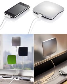 Que tal carregar seu iPhone na luz???  Solar Window Charger by XD Design