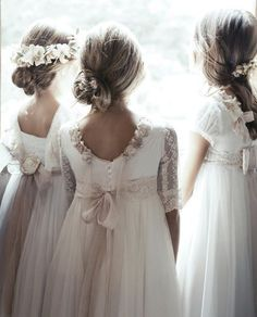 Manaus, Bali y Aviñon para niñas Girls Communion Dresses, Baptism Dress, Little Girl Dresses, Girls Dresses, Flower Girl Dresses, Country Wedding Dresses, Designer Wedding Dresses, The Dress, Baby Dress
