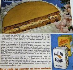KrydderLagkage... Home Bakery, Baby Leggings, Vintage Recipes, Tart, Gluten, Baking, Breakfast, Desserts, Christmas