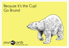 Because it's the Cup! Go Bruins!