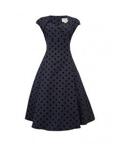 vetement-annee-50s-collectif-robe-regina-polka-bleu-a-pois