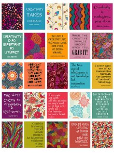 "Creativity Quotes Stickers for Life Planner Printable/Digital 1.5""x1.9"" for your erin condren life planner weekly boxes."