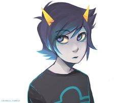 ahh I really wanted to paint some eyes and then a Terezi happened <SO BEAUTIFUL I CAN'T EVEN