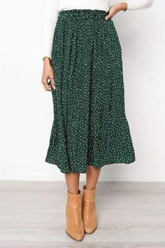 Summer Casual Chiffon Print Pockets High Waist Pleated Maxi Skirt Womens Long Skirts For Women - Rock Modest Fashion, Fashion Outfits, Womens Fashion, Apostolic Fashion, Modest Clothing, Fall Fashion Skirts, Long Skirt Fashion, Apostolic Style, Fashion Hacks