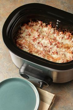Sure, the slow cooker's great for stews and soups, but it also happens to make a mean lasagna! In this ingenious slow-cooker recipe, all you have to do is chop your veggies, dump the ingredients (raw) into the crockpot, set it and forget it (until you come home to a delicious meal of course!).