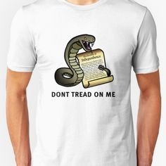 Awesome Gadsden Flag T-shirt available at our libertopia store! See: https://www.redbubble.com/people/lewisliberman #ancap #libertarian #voluntaryism #tshirt #cooldesign #illustration #wearableart #art #shirt #conservative #gadsdenflag #gadsden #donttreadonme #liberty #patriotic #history