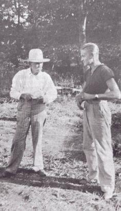 Almanzo (81) with nephew Walter Theyer (Eliza Jane's son)