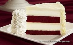 Red Velvet Cheesecake Cake...yum!!  I would buy a slice of this at the Starbucks café in Barnes and Noble whenever I was studying