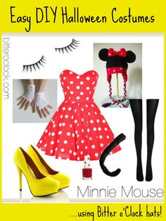 Easy DIY Halloween Costumes: Minnie Mouse