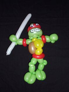 Tortuga Ninja 1- Teenage Mutant Ninja Turtle Globoflexia - Balloon Alfonso V http://magomadrid.es