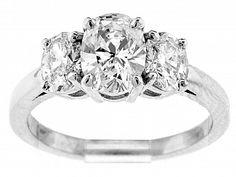 Reiff Company in Philadelphia, Pennsylvania. Three Stone Engagement Rings, Beautiful Engagement Rings, Diamond Engagement Rings, Gia Certified Diamonds, Oval Diamond, Timeless Classic, Fine Jewelry, Jewellery, Jewelry Stores