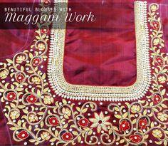 Maggam work blouse design
