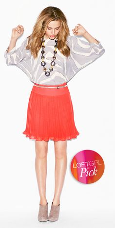 LOFT Girl NYC, Nicole Feliciano,  Outfit Info: Top Style # 279746, Skirt Style # 287265 (In Stores Now)