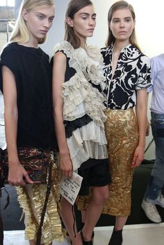 Backstage at Dries Van Noten RTW Spring 2014 [Photo by Delphine Achard]....x