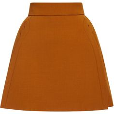 Andrew Gn     A-Line Mini Skirt (€555) ❤ liked on Polyvore featuring skirts, mini skirts, bottoms, delpozo, faldas, short skirts, brown a line skirt, brown mini skirt, a-line skirt and brown skirt