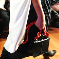 Sporty-inspired details seen on Ling Wu's signature exotic skin bags for her SS18 runway show at Singapore Fashion Week last evening. #SGFW via ELLE SINGAPORE MAGAZINE OFFICIAL INSTAGRAM - Fashion Campaigns  Haute Couture  Advertising  Editorial Photography  Magazine Cover Designs  Supermodels  Runway Models