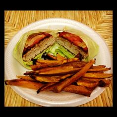 Paleo Turkey Burgers & Sweet Potato Fries | The Paleolithic Crossfitter