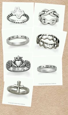 I love the little one with hearts! James Avery rings