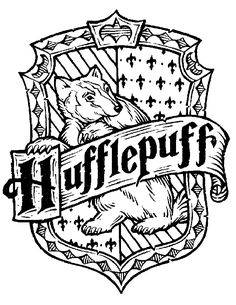 Harry Potter Hogwarts House Crests Black And White   Google Search