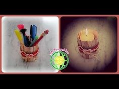Recipiente multiusos estilo rústico chic Birthday Candles, Diy, Rustic Style, Recycled Tin Cans, Lanterns, Tutorials, Blue Prints, Facts, Bricolage