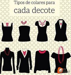 O colar ideal para cada tipo de decote A maioria das mulheres adora um acessório fashion como os colares mas normalmente não sabe combinar o modelo ideal para o tipo