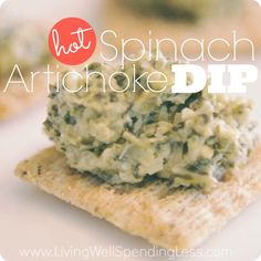 Hot spinach artichoke crock pot dip