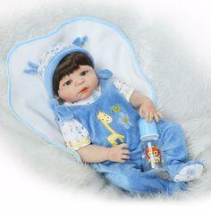 Npk corpo cheio de silicone reborn baby boy bonecas de vinil silicone macio real toque suave bebe recém nascido bebê real Presente para o coletor
