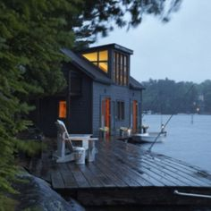 how perfect! a dock for fishing right outside the door!