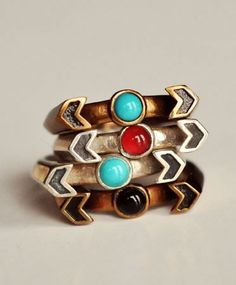 Chevron Reveal Rings, AW12