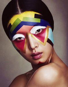 A work of art. Benjamin Vnuk shoots Sung Hee for Bon Magazine, 2012.