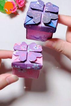 10 Fun Origami To Surprise Your Friends - DIY Tutorials Videos Diy Origami, Useful Origami, Paper Crafts Origami, Easy Paper Crafts, Origami Lamp, Oragami, Heart Origami, Diy Crafts Hacks, Diy Crafts For Gifts