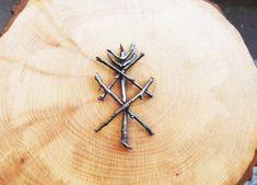 Nordische mittelalterliche Wikinger Schild Symbol Brosche ovalen Schal