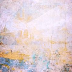 Boston as a blend of my painting, photography, and textured imagery / a contemporary digital abstract / blue, yellow, soft, pale