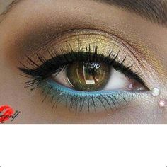 Eye makeup for hazel eyes .. chances it will look like that if I try to duplicate it: 0 out of 100