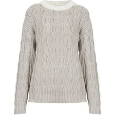 Vertical Cable Knit Jumper By Boutique ($120) ❤ liked on Polyvore
