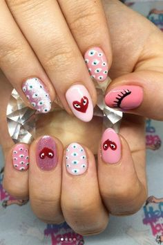 Comme Des Garçons Manicures Make For the Most Sartorial Nail PlayYou can find Pretty nails and more on our website.Comme Des Garçons Manicures Make For the . Nail Art Cute, Cute Acrylic Nails, Cute Nails, Pretty Nails, Minimalist Nails, Nail Swag, Nail Design Glitter, Nails Design, Evil Eye Nails