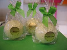 white chocolate golf balls filled with creamy milk hazelnut.