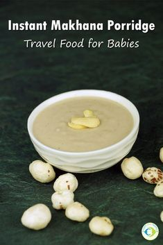 Instant Makhana Porridge-Travel food for Babies is a simple mix which is travel friendly and filling as well. Makhana is rich in fiber, easily digestible Baby Carrot Recipes, Homemade Baby Foods, Baby Food Recipes, Dessert Recipes, Cooking Recipes, Party Desserts, Parfait Recipes, Baby Porridge Recipe, Porridge Recipes