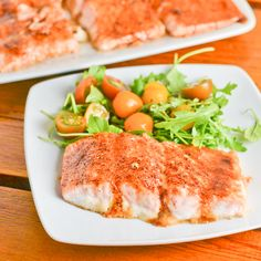 This brown sugar spiced salmon recipe is a simple and easy dish. The salmon is prepped with chili powder, brown sugar and salt and then baked in the oven.