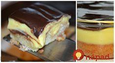 Pudingovo-šľahačkové kocky s čokoládou: Na toto sa nechystajú ani drahé dezerty z cukrárne!