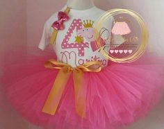 Check out this item in my Etsy shop https://www.etsy.com/ca/listing/276448346/pink-and-gold-birthday-outfit-peppa-pig