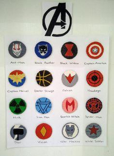 Handmade AVENGERS Marvel Logo, Marvel Art, Marvel Avengers, Avengers Symbols, Avengers Characters, Avengers Painting, Avengers Drawings, Marvel Paintings, Character Symbols