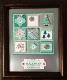 Christmas Sampler Frame using Stampin' Up! products