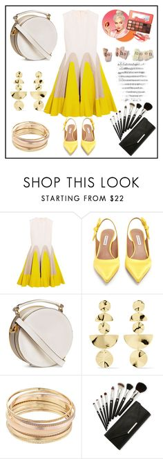 """Untitled #807"" by aazraa ❤ liked on Polyvore featuring Delpozo, Tabitha Simmons, Ippolita and Mudd"