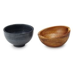 Hot and Cold Soapstone Handheld Bowls - Set of 2 | hot and cold bowl | UncommonGoods