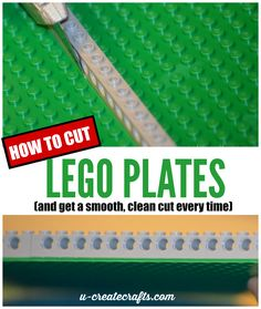 How to Cut Lego Plates for craft projects - get a clean cut everytime.