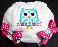 First Birthday Owl Bloomers, Owl, One's a Hoot, Pink and Blue, Owl Birthday, Photo Prop