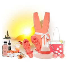 """Beach Day"" by elona-makavelli ❤ liked on Polyvore featuring Melissa, Kate Spade, Eugenia Kim, Ray-Ban, Philip B, Bobbi Brown Cosmetics and TanTowel"