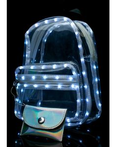 Current Mood Light Show Mini Backpack it's gonna be LIT at the night show! BBgirl, give 'em a dazzling light show with this amazing little backpack that's… Mini Backpack, Backpack Bags, Fashion Backpack, Little Backpacks, Cute Backpacks, Clear Backpacks, Mini Mochila, Circle Light, Edm Outfits