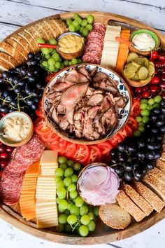 Tri Tip Sandwich Charcuterie Board - Reluctant Entertainer Charcuterie Recipes, Charcuterie And Cheese Board, Charcuterie Platter, Party Food Platters, Food Trays, Cheese Platters, Tri Tip Sandwich, Sandwich Board, Sandwich Platter